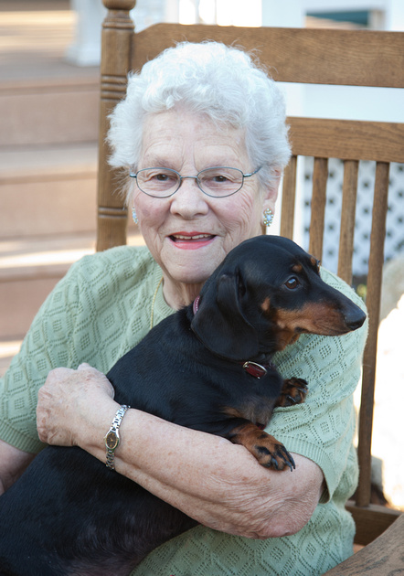Granny and dog