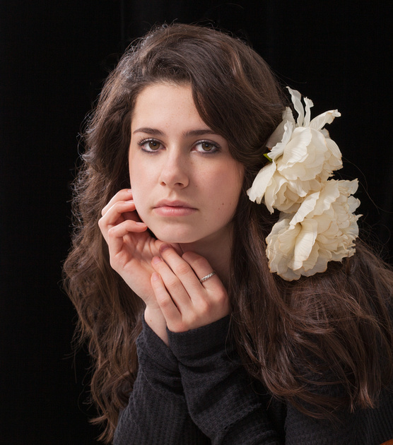 High School Seniors - Girl with flowers